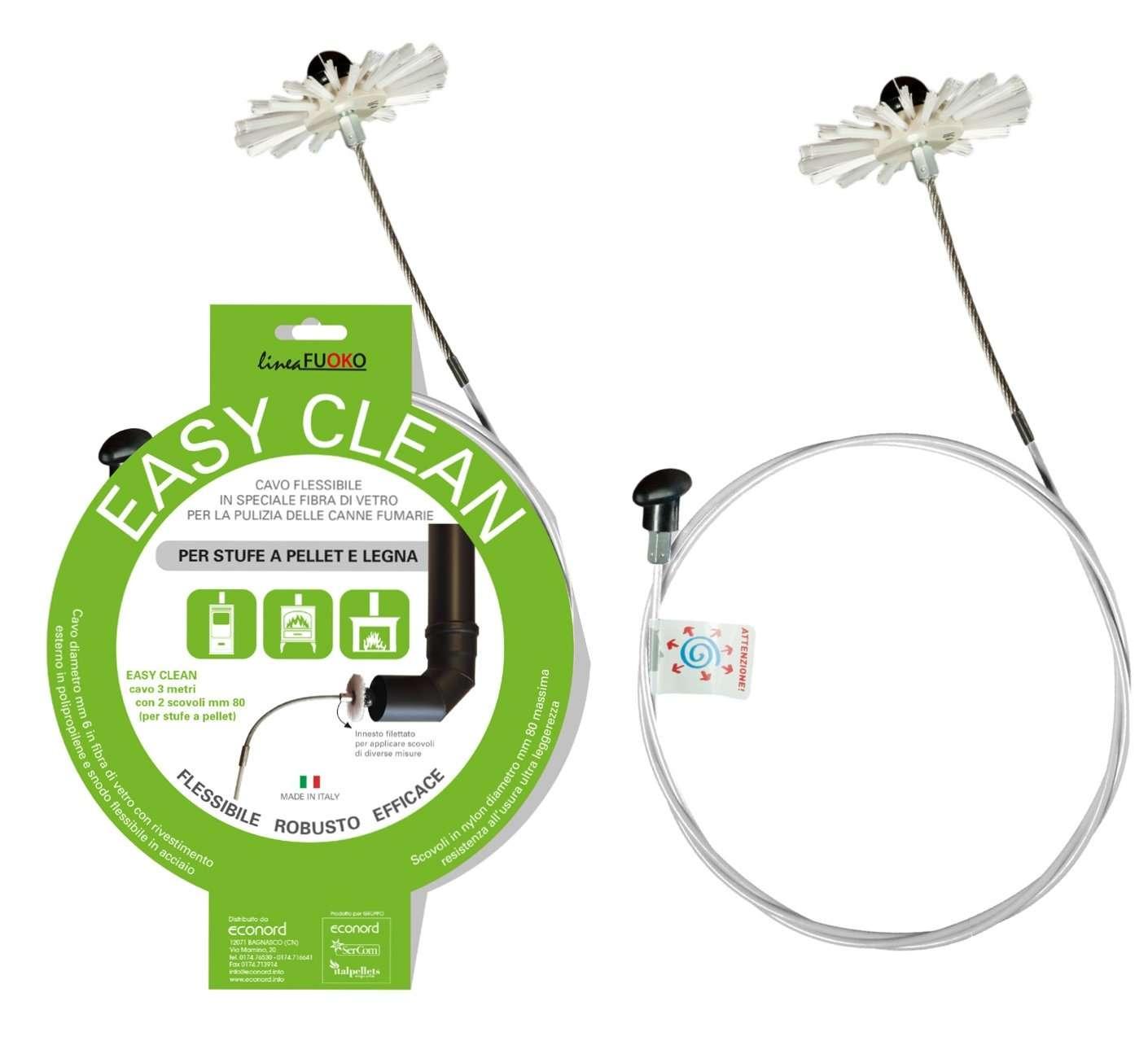sonda flessibile in speciale fibra di vetro per la pulizia dei tubi