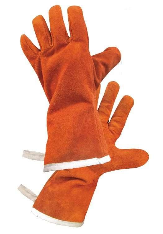 Guanti paracalore tealizzati in lana e TNT ignifugo ideali per barbecue, forni, caldaie, stufe, camini