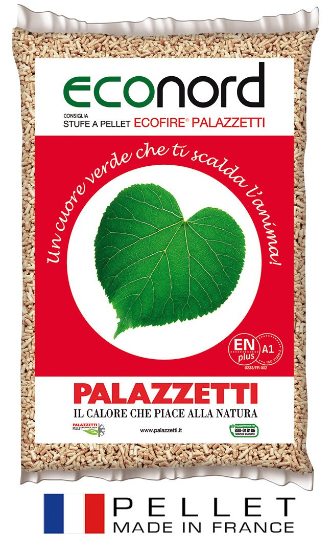 Sacchetto pellet francese econord palazzetti kg 15