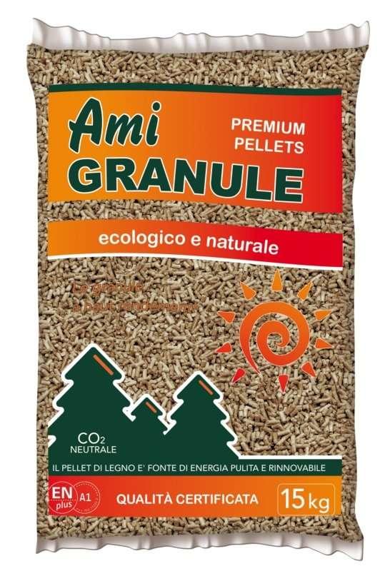 Sacchetto pellet francese ami granule kg 15